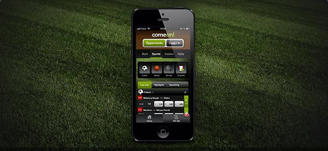 ComeOn Mobil und App
