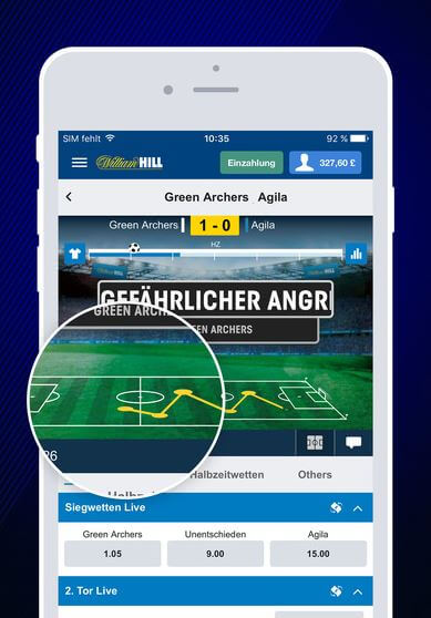 William Hill App für iOs