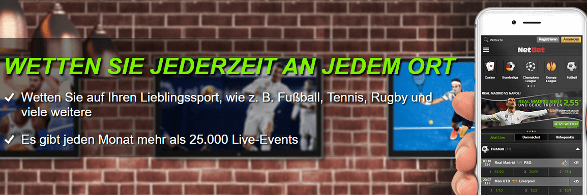Netbet App und Mobile Version