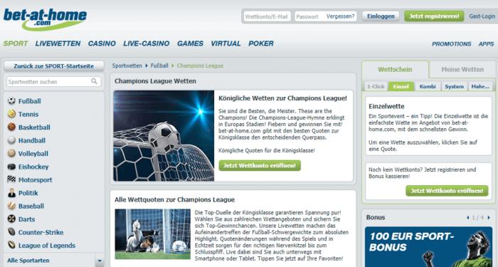 bet-at-home Champions League Bonus