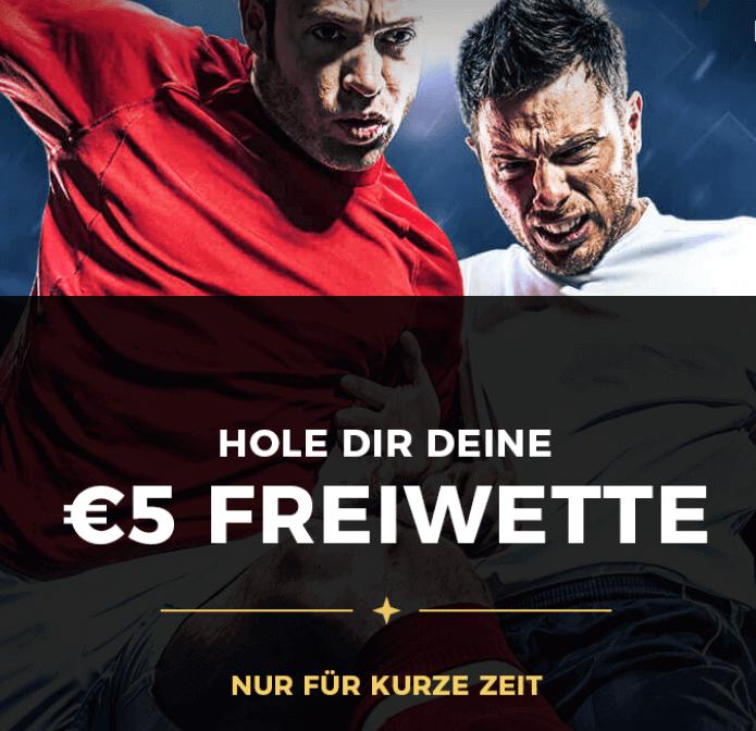 Energybet 5 Euro Freiwette